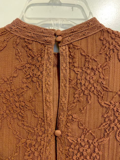 American Eagle Lace Peplum Top Brown Image 5