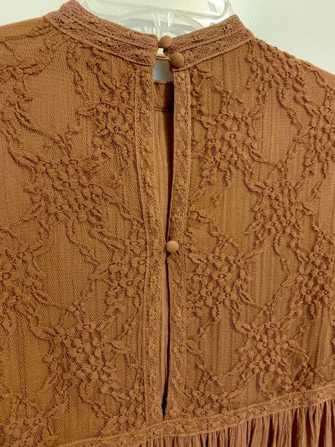 American Eagle Lace Peplum Top Brown Image 8
