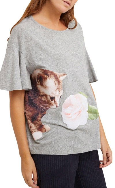 Preload https://img-static.tradesy.com/item/24961993/paul-and-joe-gray-cheri-cat-flower-cotton-tee-shirt-size-2-xs-0-1-650-650.jpg