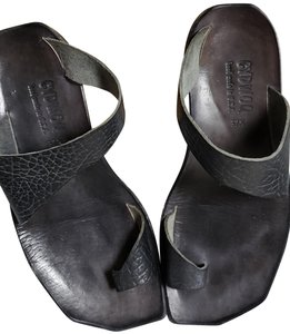 e7a1e515ce08 CYDWOQ Hand Made Leather Bohemian Eclectic Black Sandals