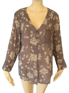 Fred David Top Lilac and cream