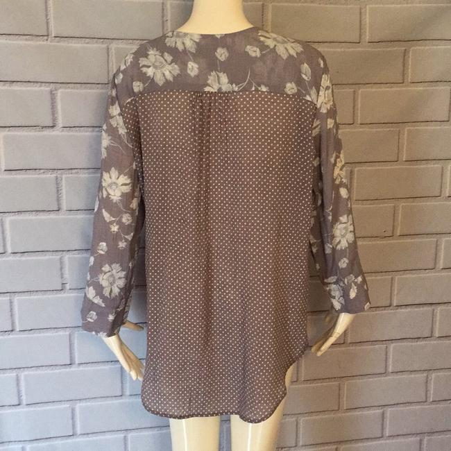 Fred David Top Lilac and cream Image 3