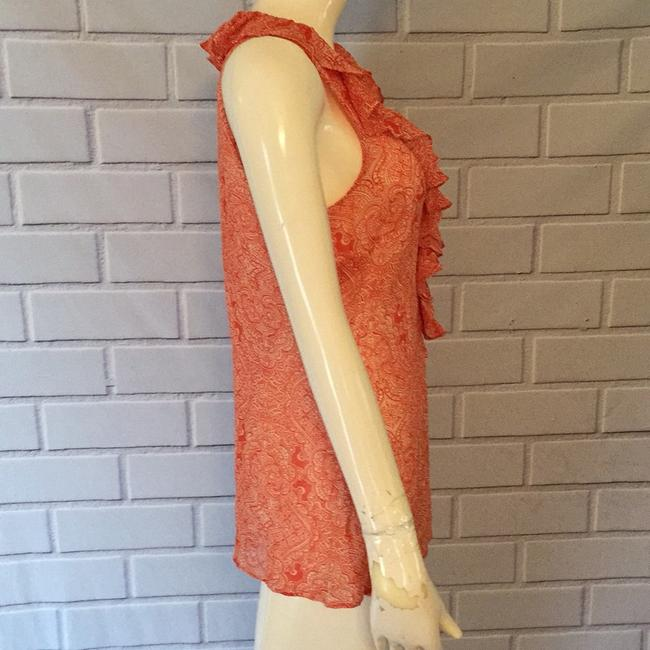 Ann Taylor Top Orange and cream Image 2