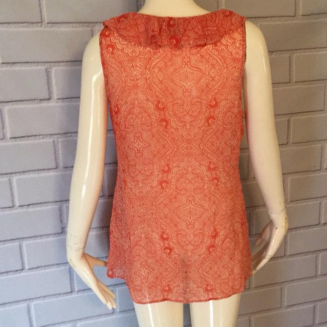 Ann Taylor Top Orange and cream Image 3