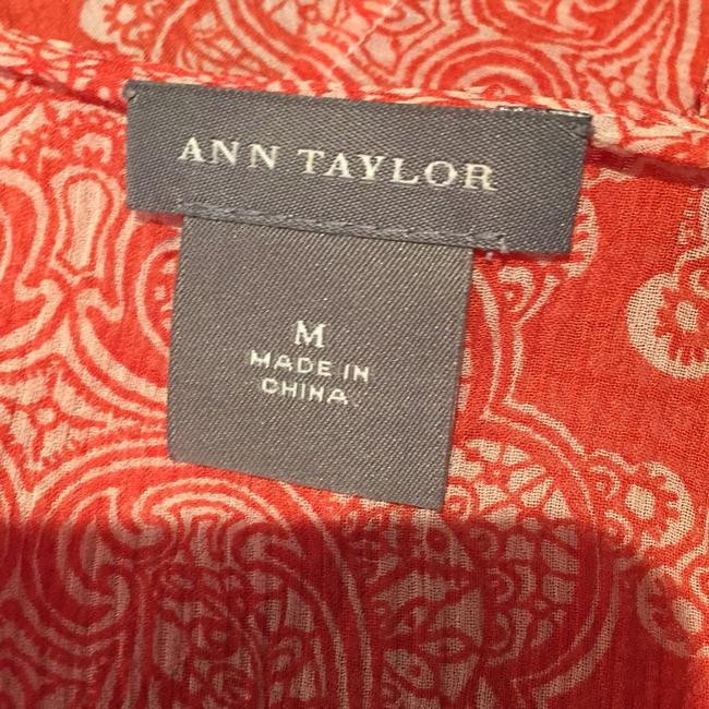 Ann Taylor Top Orange and cream Image 4