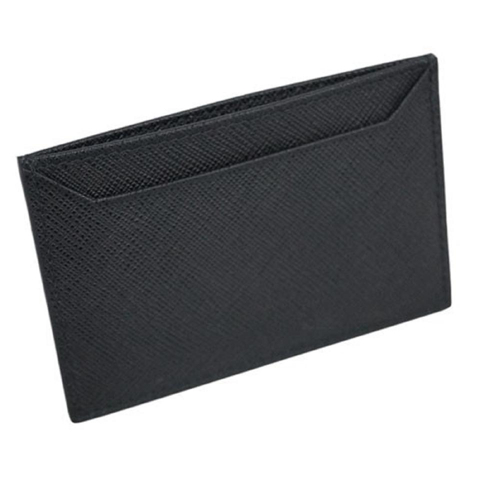 662e75b94050 Prada Prada Nero Black Saffiano Men's Leather Wallet Credit Card Holder Case  Image 0 ...