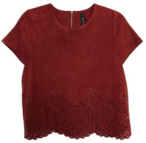 Lord & Taylor Top Brick Red
