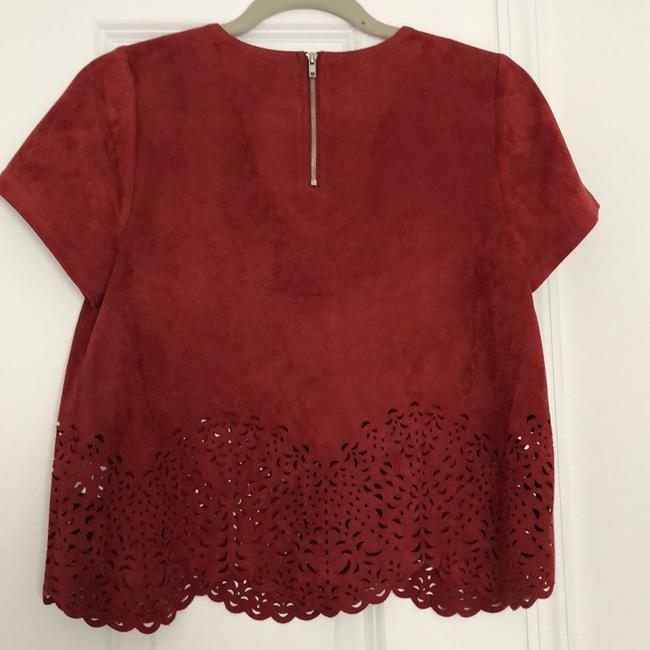 Lord & Taylor Top Brick Red Image 3