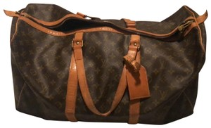 Louis Vuitton Traditional dark and light brown Travel Bag