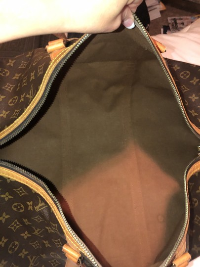 Louis Vuitton Traditional dark and light brown Travel Bag Image 2