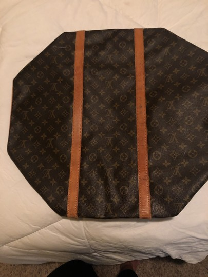 Louis Vuitton Traditional dark and light brown Travel Bag Image 4