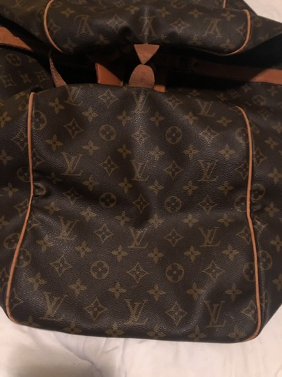 Louis Vuitton Traditional dark and light brown Travel Bag Image 5