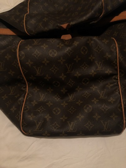 Louis Vuitton Traditional dark and light brown Travel Bag Image 6