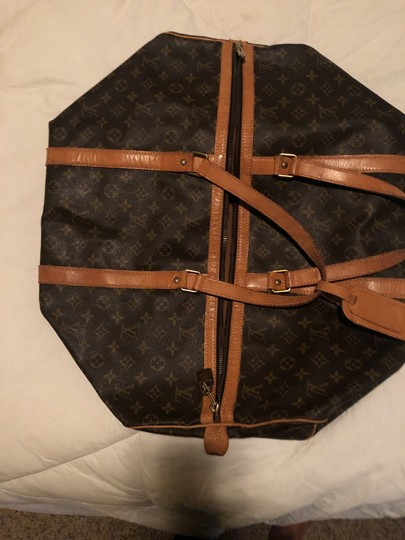 Louis Vuitton Traditional dark and light brown Travel Bag Image 7