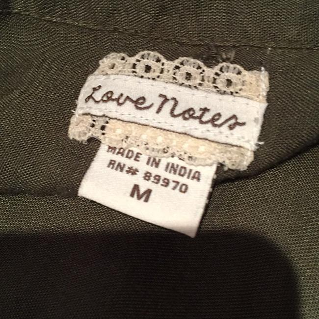 Love Notes Top Olive green Image 3