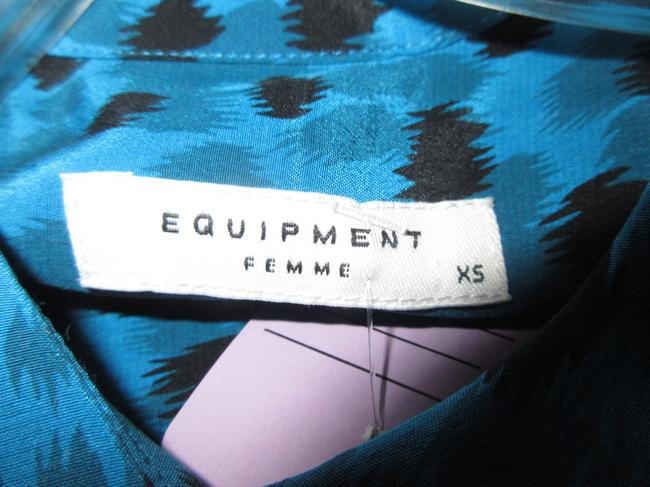 Equipment Top Blue with Black Ink Spots Image 4