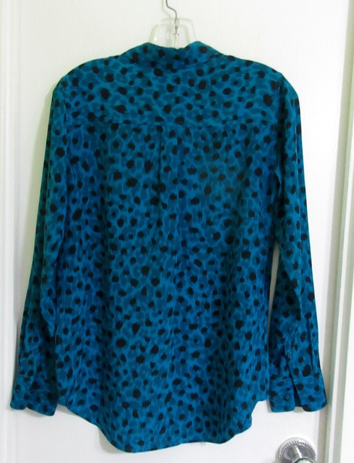 Equipment Top Blue with Black Ink Spots Image 6