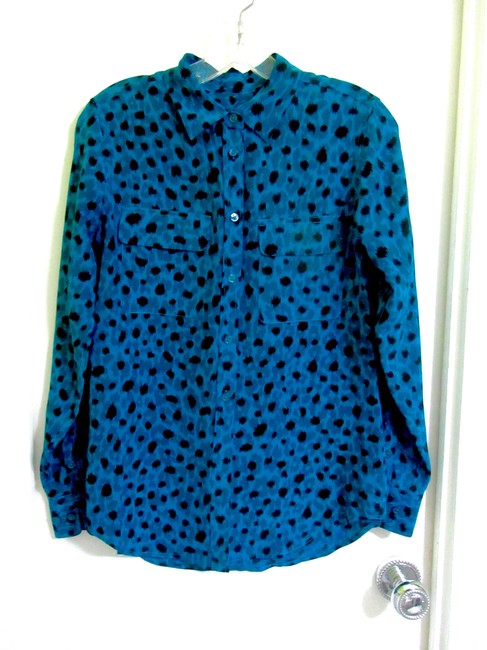 Equipment Top Blue with Black Ink Spots Image 9