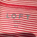 Ann Taylor LOFT Top Red and white Image 3