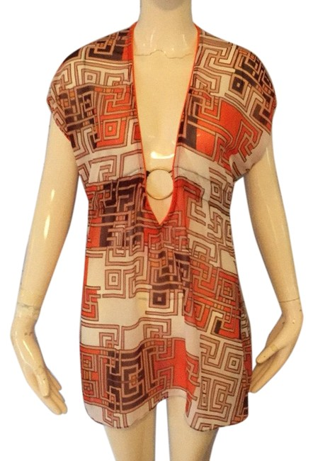 Preload https://img-static.tradesy.com/item/24962376/becca-by-rebecca-virtue-orange-and-brown-cover-upsarong-size-2-xs-0-1-650-650.jpg