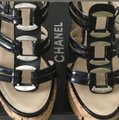 Chanel Black and Silver Platforms Image 2