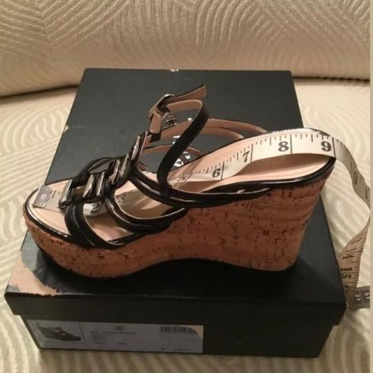 Chanel Black and Silver Platforms Image 7