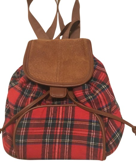 Preload https://img-static.tradesy.com/item/24962392/and-red-plaid-and-brown-suede-flannel-leather-backpack-0-2-540-540.jpg