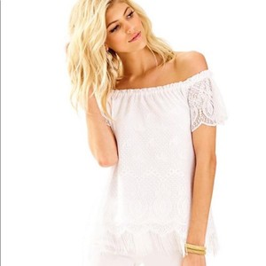 45e7219dc58b5c Lilly Pulitzer Top Resort White Beach Bliss. Lilly Pulitzer Marble Cold  Shoulder ...