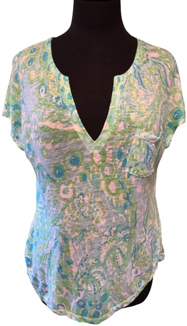 Preload https://img-static.tradesy.com/item/24962475/lilly-pulitzer-blue-duval-blouse-size-6-s-0-1-650-650.jpg