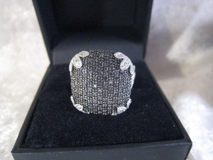 Unknown Sterling Silver/Black Saphire Ring