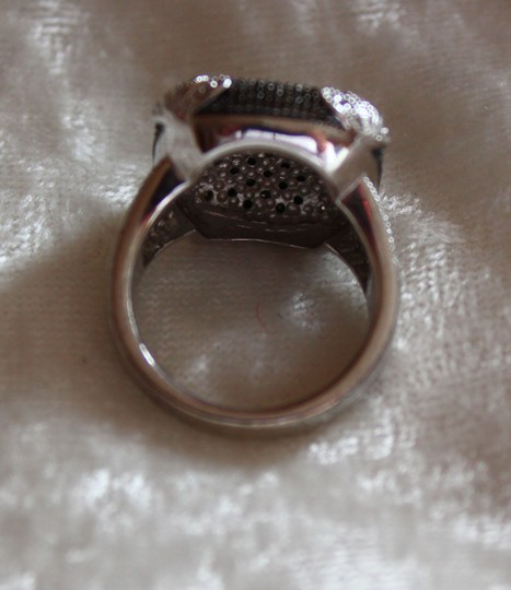 Unknown Sterling Silver/Black Saphire Ring Image 4