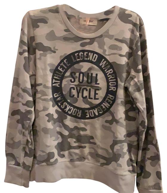 Preload https://img-static.tradesy.com/item/24962615/soulcycle-various-shades-of-grey-camouflage-sweatshirt-activewear-top-size-8-m-0-1-650-650.jpg