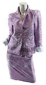 Christian Lacroix BAZAR by Christian Lacroix Lavender Jacquard Acetate Blend Skirt Suit - 36/US 4