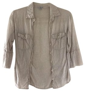 James Perse Button Down Shirt light khaki