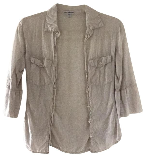 James Perse Button Down Shirt light khaki Image 0