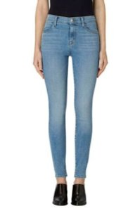 J Brand High Rise Denim Light Wash Medium Wash Skinny Jeans-Light Wash