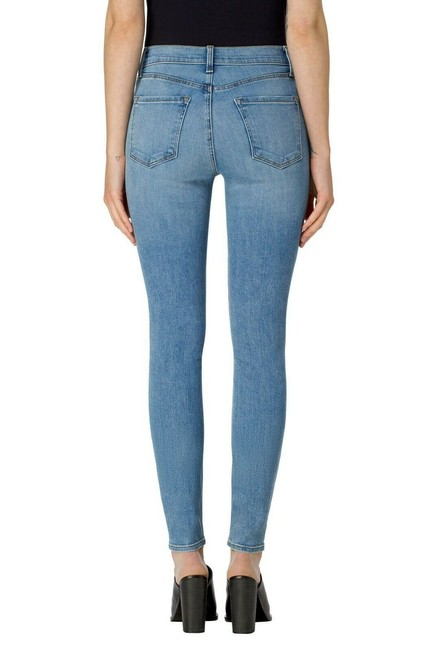 J Brand High Rise Denim Light Wash Medium Wash Skinny Jeans-Light Wash Image 1