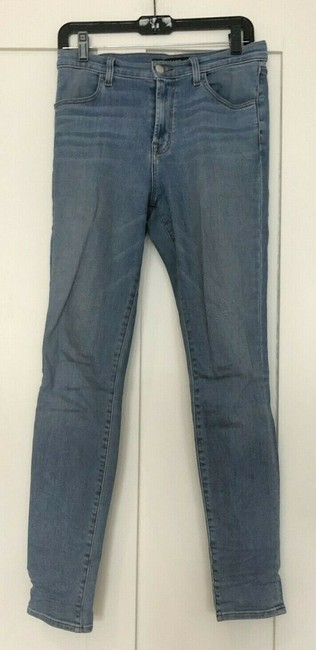 J Brand High Rise Denim Light Wash Medium Wash Skinny Jeans-Light Wash Image 2