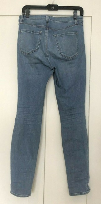 J Brand High Rise Denim Light Wash Medium Wash Skinny Jeans-Light Wash Image 3