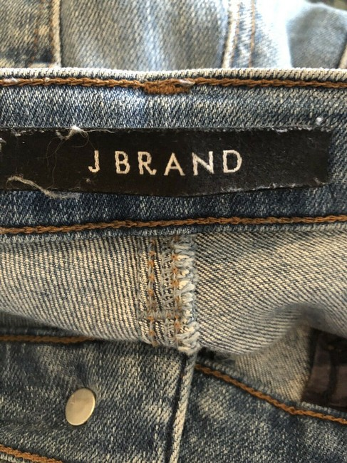 J Brand High Rise Denim Light Wash Medium Wash Skinny Jeans-Light Wash Image 4