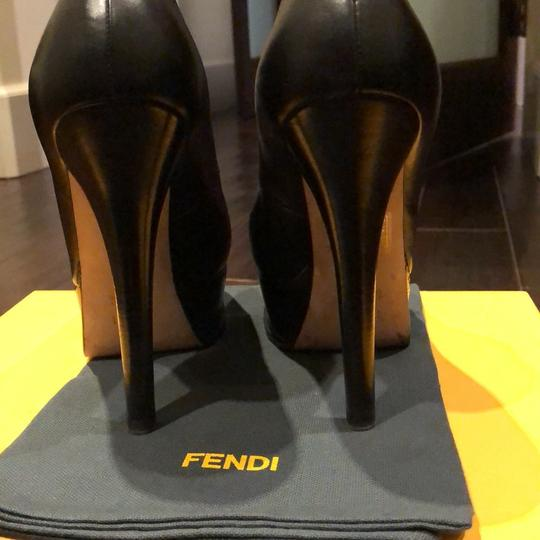 Fendi black with gold Fendi logo Platforms Image 1