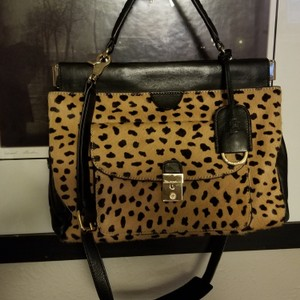 Tory Burch Satchel in Black Yellow