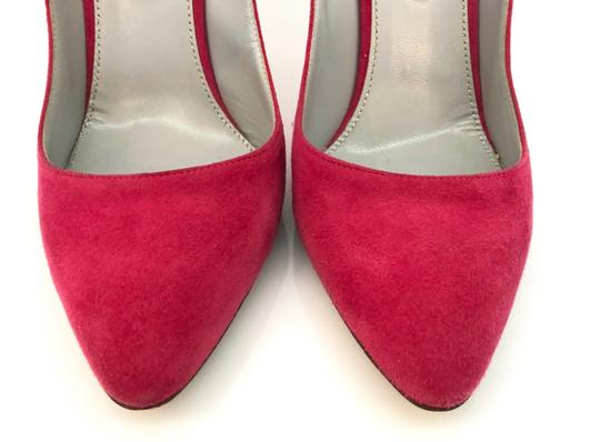 Sergio Rossi Almond Toe Pointed Toe Suede Stiletto Pink Pumps Image 3