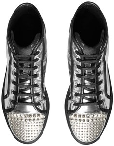 Gucci Silver Studded Silver Hardware Mirror Argento Athletic