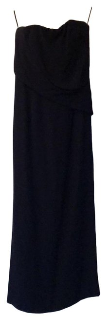 Item - Strapless Navy Blue 82 Long Formal Dress Size 4 (S)