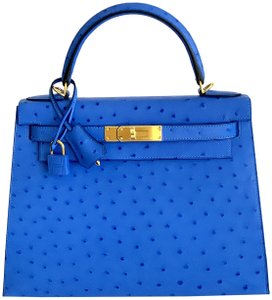 5fcc7ed92115 Hermès Kelly 28 Bleuet New Color Gold Hardware 1 Blue Ostrich ...