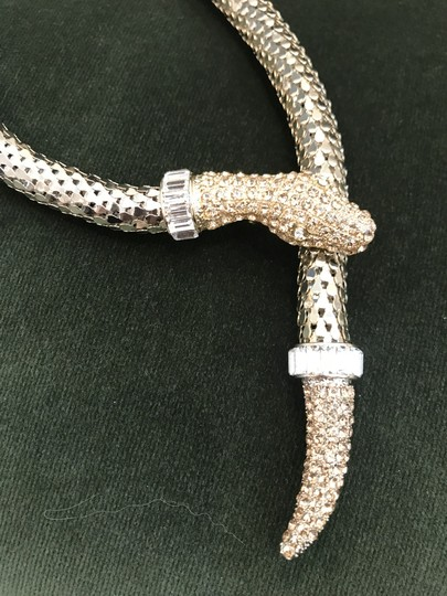 Anne Fontaine NEW ISLA White Gold Serpent Metal Belt Image 3