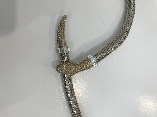 Anne Fontaine NEW ISLA White Gold Serpent Metal Belt Image 4