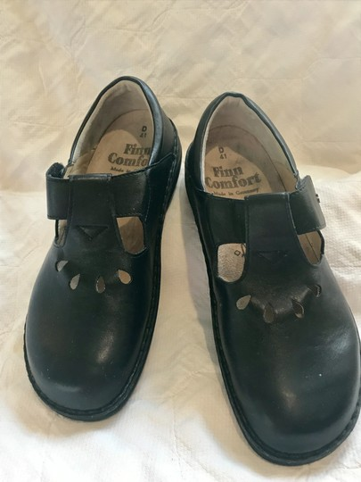 Finn Comfort Soft Footbed Size41 Mary Jane Black leather Flats Image 1