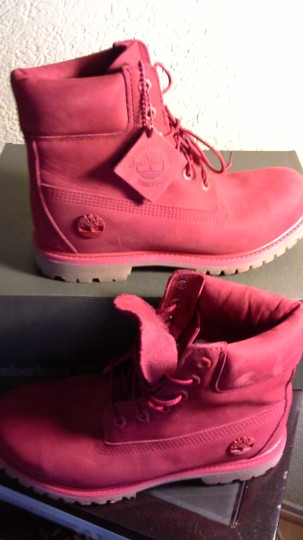 Timberland Red Boots Image 4